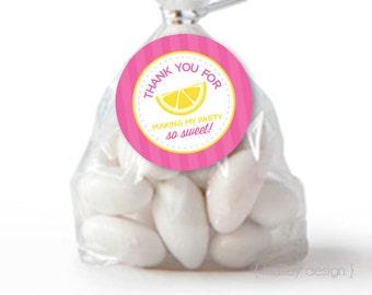 Lemonade Party Favor Tags Printable Lemonade Favors Lemonade Favor Tags Girls Birthday Instant Download Digital Favor Tags Digital Download