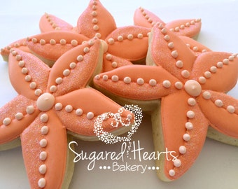 Beach Ocean Starfish Cookies - 1 Dozen