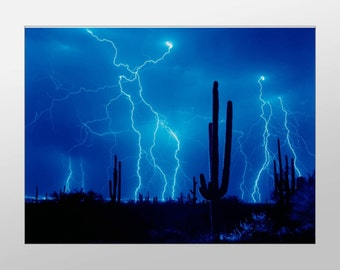 Desert Lightening Storm Canvas Art, Lightening Wall Art, Weather Canvas Print, Artwork, Photograph, Canvas Print, Home Art, Wall Art Canvas