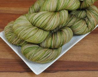 Eat Slugs on Cypress, Merino/Nylon Fingering Weight Hand-dyed Yarn