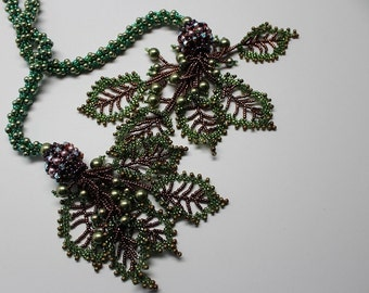 The Lady Mary, A OOAK, Handmade, Bead woven, Twisted Spiral, Embellished, Rope Lariat Style Necklace
