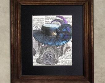 Dictionary Print: Prescient Cane Corso Steampunk Dog, Dog Art Print
