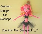Handmade Custom Clothing for 17 inch Monster Doll, Bratz, EAH