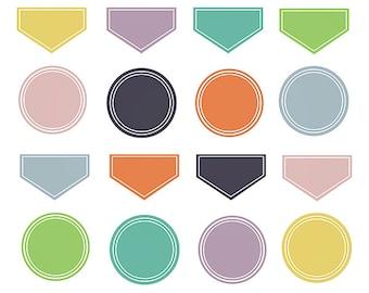 Clipart Sale 60% off, Fall Digital Labels, Digital Design, Labels Clipart, Kids Clipart, Scrapbooking Supplies, Digital Labels Set #074