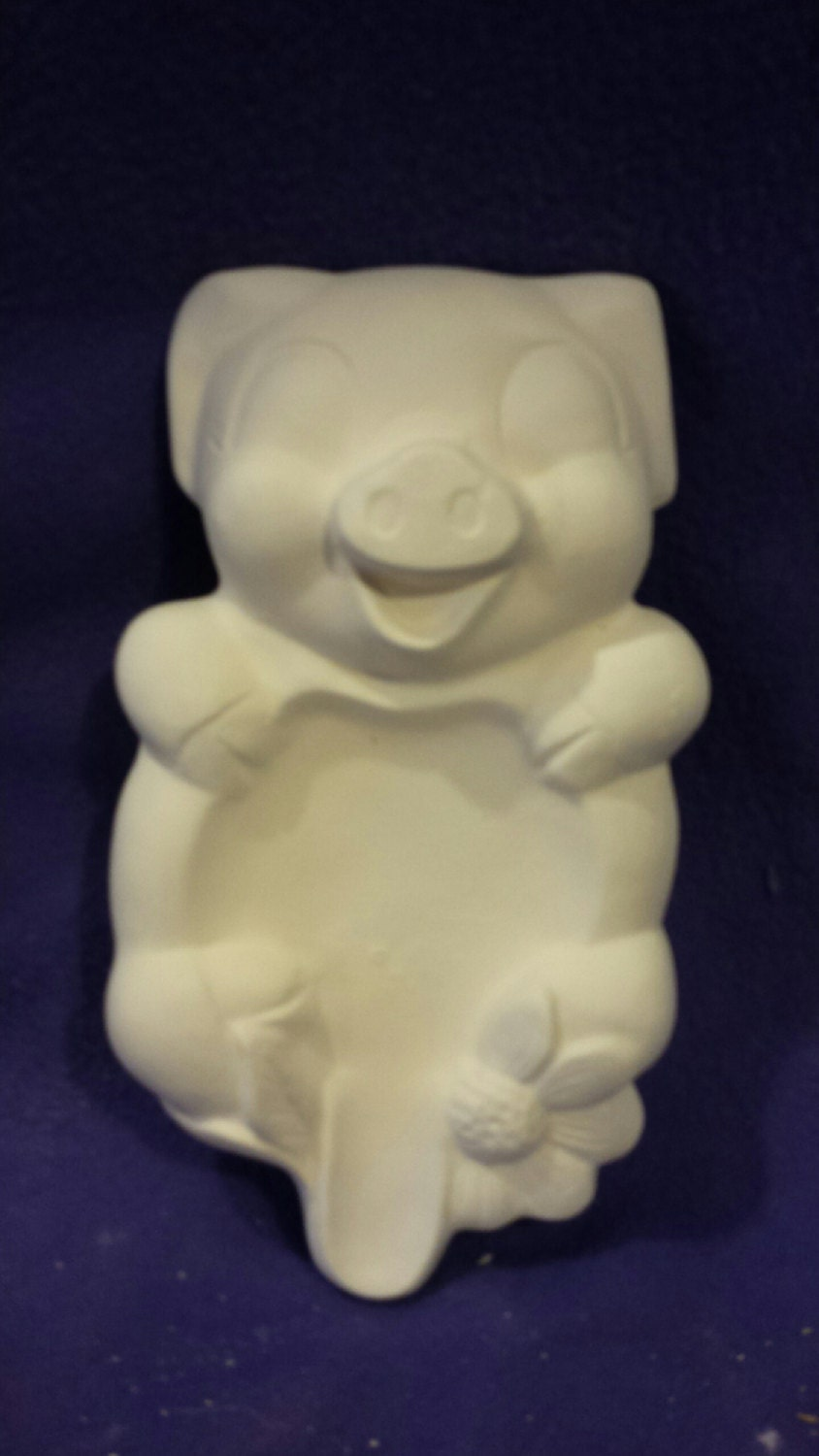 Macky Pig Spoon Rest Ready To Paint 8 1 2 Ceramic Bisque