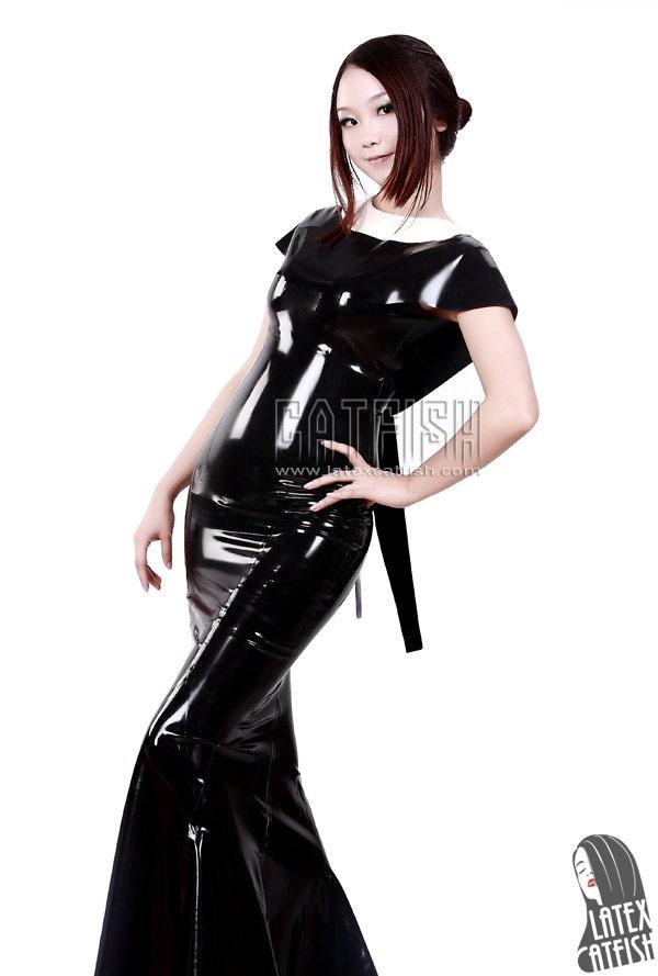 Long latex dress