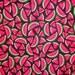 Black/Red Polka Dot Watermelon Fabric by the Half Yard