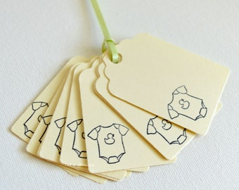 Baby Gift Tags, Baby Shower Tags, Baby Wish Tree Tags, New Baby Hang Tags, Mommy Wish Tags, White Cream Baby Tags, Baby Shower Favor Tag