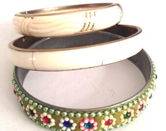 Cream bronze bracelet bracelet set or separate