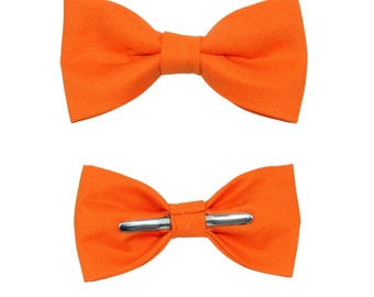 Kumquat Orange Clip On Bow Tie - Men / Boy / 2T 3T Bowtie