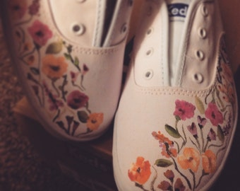 Watercolor Floral Keds