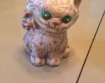 1930s Hubley Cast Iron Cat Bank