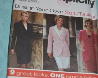 Simplicity 9876 Misses Suit Sewing Pattern - UNCUT - Size 20 22 24