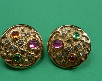 Vintage Clip on Earrings Park Lane 1980s