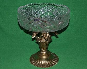 Vintage Vase Loevsky & Loevsky Crystal Fruit Dish