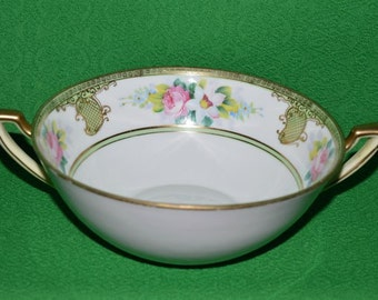 Antique Bowl  Hand Painted  Floral Decorative Nippon Porcelain Japan 1911-1921