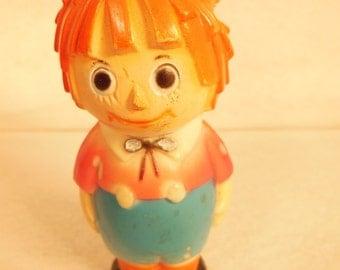 "Vintage--Raggedy Andy--Buddy L-figurine--3 1/2"" Tall"