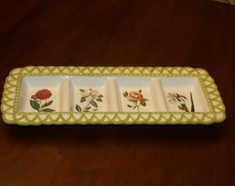 Vintage 96's Raymond Waites Serving Plate  4-Part Relish Serving Tray