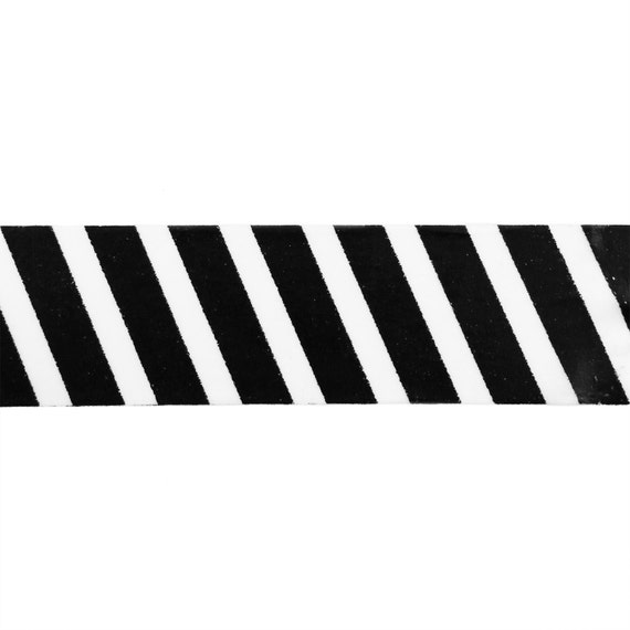 Black And White Diagonal Airmail Stripes Washi Tape 15mm