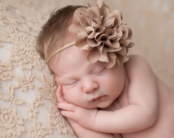 Brown Newborn Headbands, Brown Headbands, Baby Headbands, Brown Baby Headband, Photography Props, Infant Headbands