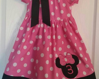 Minnie Mouse Birthday dress number 3