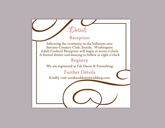 Diy wedding details card template download printable wedding for Diy will template