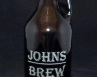 Growler Custom Name Brew Growler Christmas gift, birthday gift, man gift, micro brew gift