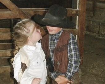 western vest/ cowboy cowgirl vest, western wear,rodeo, cowboy costume western wedding cowboy birthday cowgirl birthday 3T 4T  5T