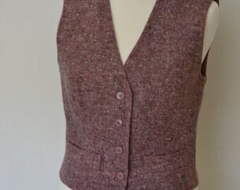 Vintage tweed waistcoat, size 10