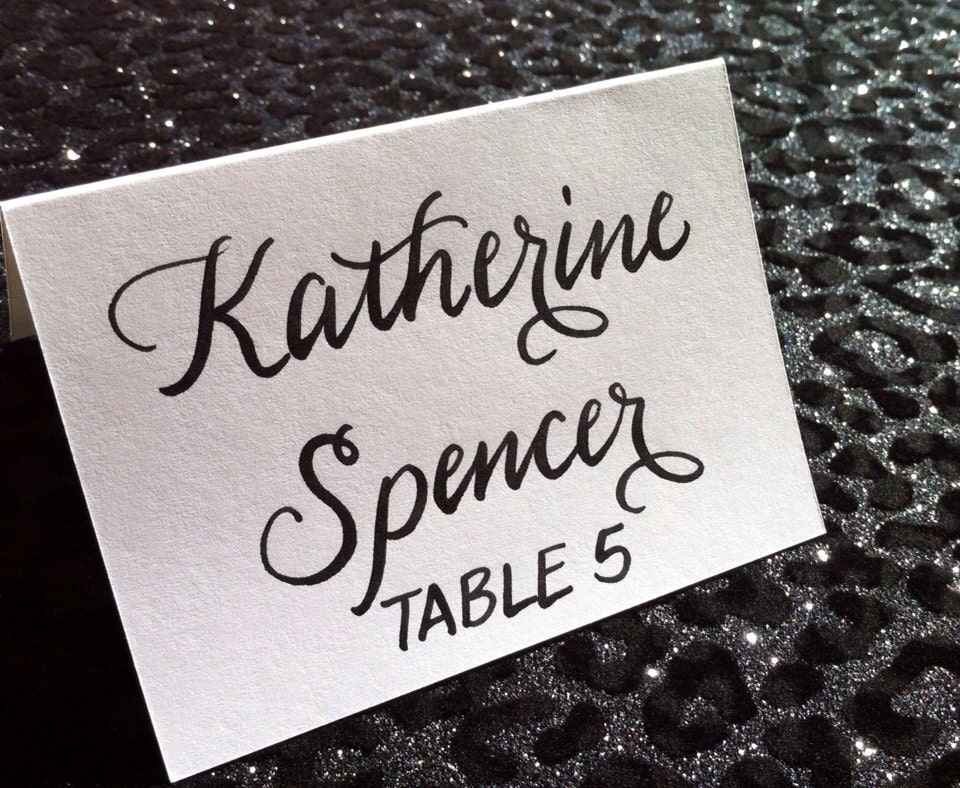 Place Cards And Escort Cards In Custom Calligraphy For