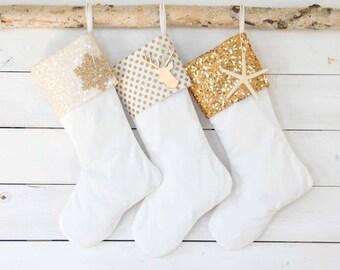 Christmas Stockings Set of 3 - Velvet Stockings, Stockings, Personalized Stockings, Monogrammed Stockings, Stockings