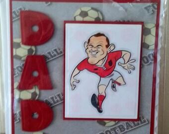 5x5 Size Dad Football Birthday Card