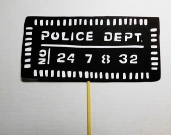 Police Mug Shot Mugshot Photo Booth Prop Photobooth Prop Set of 2