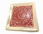 Mandala Dish, Boho Decor, Gypsy Decor, Meditation Altar Plate, Bohemian Dish, Incense Plate,Mandala Decor,Bohemian Home Decor,Crystals Plate