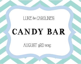 custom chalkboard A4 sweet table sign candy buffet