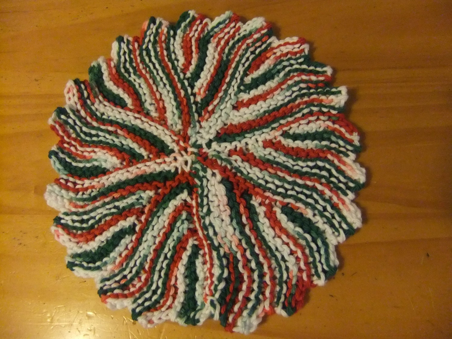 Christmas Knitted Dishcloth
