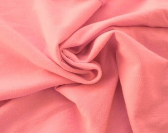 Cotton Spandex French Terry Fabric by th Yard - Blush 8/15