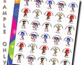 30 ct Sonic the Hedgehog Super Heroes presonalized stickers birthday party favor tags labels cupcake toppers decoration envelope sealer
