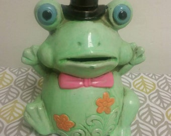 Japan Paper Mache Frog Bank