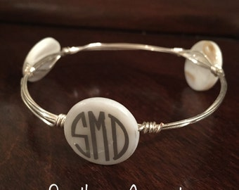 Monogrammed Wire Bangle - Custom Made!