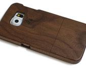 wooden Samsung Galaxy S6 case - real wood S6 case walnut / cherry or bamboo
