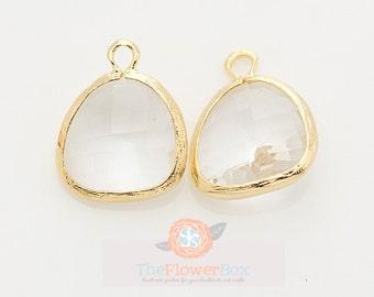 Crystal Glass Pendant // 2 pcs - Jewellery Findings