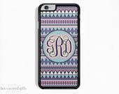 iPhone 6s Plus Case, iPhone 6s Case, iPhone 5s Case, iPhone 5c Case, Blue and Purple Tribal, Monogram Gift (174)