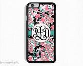 iPhone 5s Case, iPhone 6s Case, iPhone 6s Plus Case, iPhone 5c Case, Pink and Black, Monogram (469)