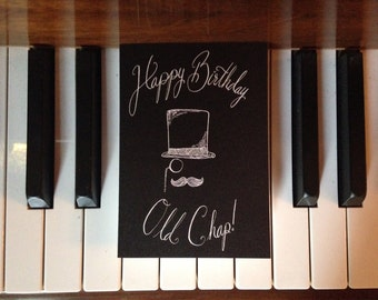 Happy Birthday Old Chap Greeting Card