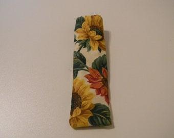 Eyeglass Case - Sunflower on Cream Backgound