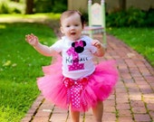 Personalized Minnie Mouse First Birthday tutu outfit