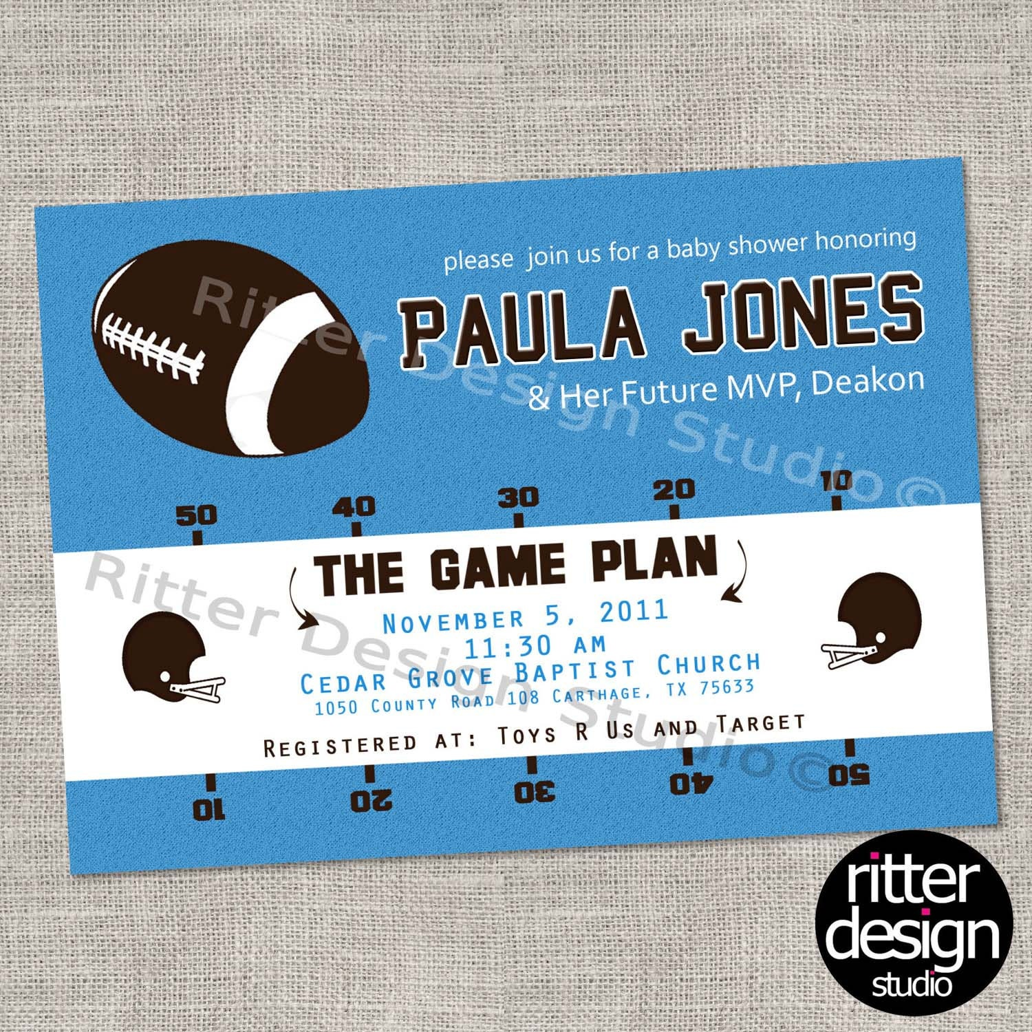 football sports themed baby shower by ritterdesignstudio on etsy
