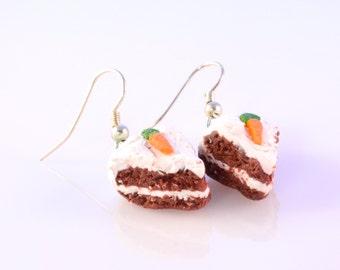 Carrot Cake Slice Earrings