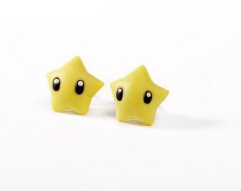 Super Mario Star Polymer Clay Earrings (Pair)